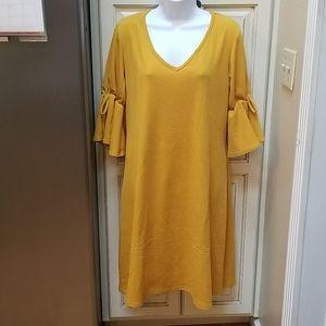 Dark Yellow Olivia Matthew's Easy Dress